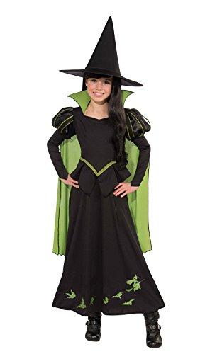 Disfraz infantil oficial de la Bruja Mala del Oeste, del Mago de Oz, de la marca Rubie's – talla grande (8 – 10 años)