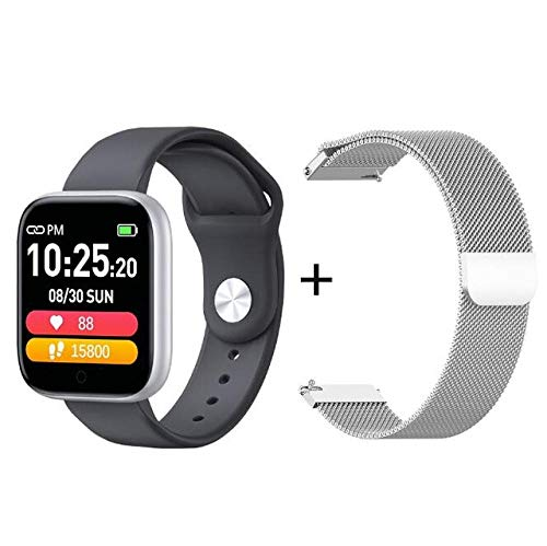 Adult Smart Watch Sport Wasserdicht Fitness Tracker Schrittzähler Long Standby Smart Bracelet Für IOS Android-add_Silver_Steel