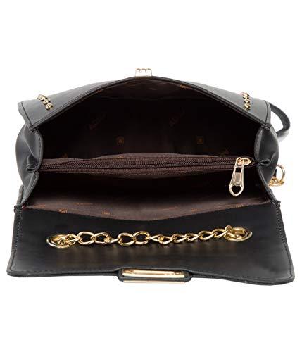 ADISA SL5050 studded black women girls party sling bag