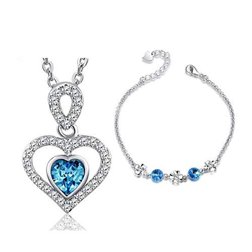 FQDQH - Collar de plata 925 con colgante de manzana pequeña, joyería de moda para mujer, collar de pareja de regalo de cumpleaños (color : pendientes de collar)