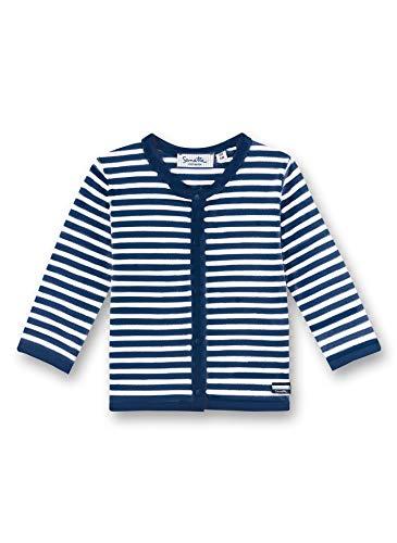 Sanetta Unisex Baby Sweatjacke, Blau (blau 5993), 80 (Herstellergröße:080)