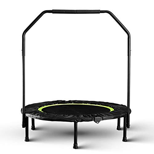 40 '' Fitness Trampoline met handgreep, opvouwbare mini-rebounder-trampoline voor volwassenen, indoor-trampolines voor cardiotraining Oefening Oefening voor stille en veilige schokdemping