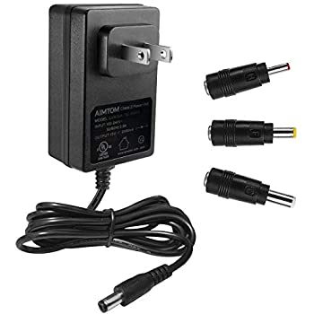 UL Listed 15V 2A Power Supply 100-240V AC to 15VDC 2000mA Wall Charger Replacement Adapter with 5.5mm x 2.1mm /2.5mm 3.5 x 1.35mm 4.8mm x 1.7mm Output Jack for AIMTOM SPS-155 and Small Electronics