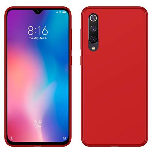 TBOC Funda de Gel TPU Roja para Xiaomi Mi 9 SE - Xiaomi Mi9SE [5.97 Pulgadas] Carcasa de Silicona Ultrafina y Flexible para Teléfono Móvil [No es Compatible con el Xiaomi Mi 9]