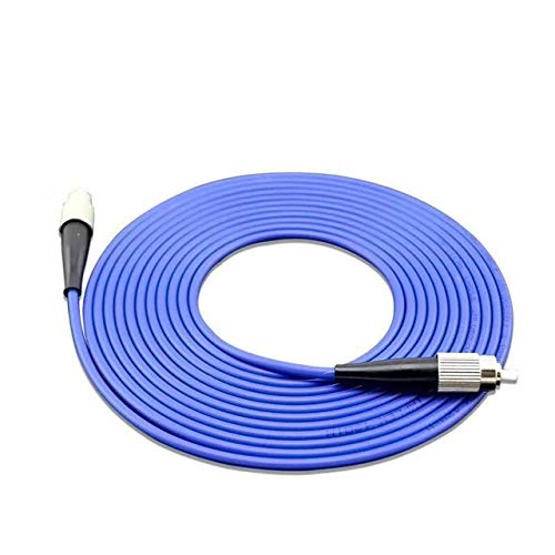 L-Yune, 1pc blindado Cables de Empalme de Fibra simplex fbra SM FC -FC UPC blindado FTTH Jumper 1core óptica monomodo Cable de Fibra (tamaño : 20M)