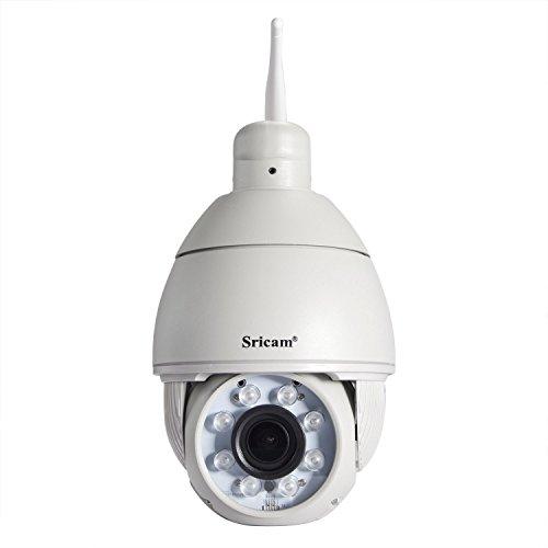 Sricam SP008PTZ Cámara IP Cámara & alámbrico Zoom de 5x Exterior Domo de Vigilancia 720P visión nocturna Detección de Movimiento Remoto Inalámbrico Controll