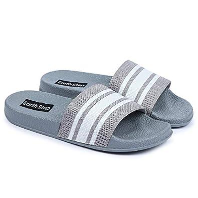 Earth Step Women & Girls Sliders/ Slippers/ Flip Flops for /Outdoors/morning walking/Casual_(Grey)