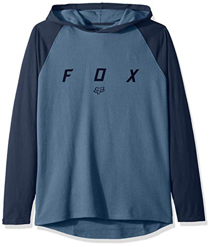 Fox Herren Tranzcribe Long Sleeve Lightweight Hooded Thermal Kapuzenpulli, Blue Steel, X-Groß