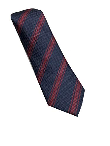 corbata azul a rayas - 100% seda - Corbata azul fabricada a mano - Pietro Baldini