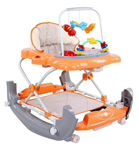 SunBaby Walker Babywalker Gehfrei Gehhilfe Lauflernwagen Melodie Schaukel Wiege (orange)