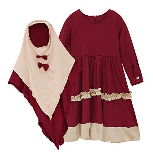 Baby Girl Muslim Prayer Dress Hijab…
