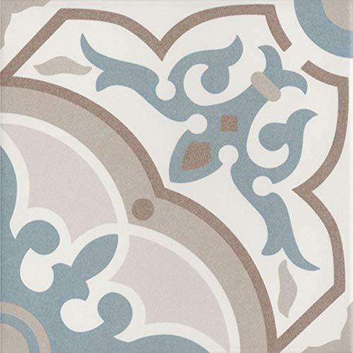 """1 Musterfliese   Marokkanische Fliesen in Zementoptik """"Aydan""""   20 x 20 cm   für Küche Flur Bad & Küchenrückwand   Einfach schöner wohnen   MF0233"""