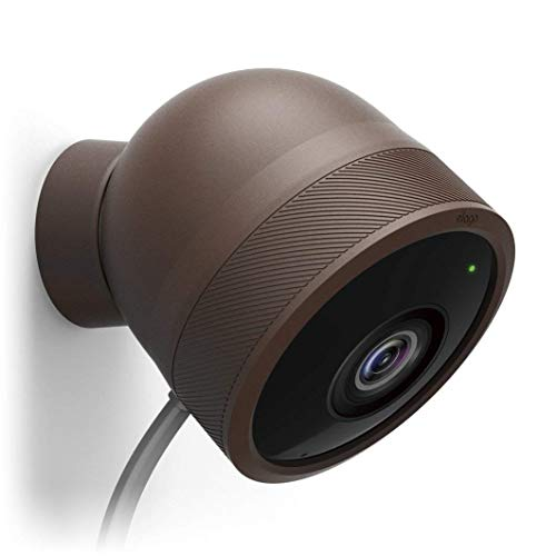 elago Google Nest Cam Outdoor Cover (Dark Brown, 3Pcs) - Full Package, All Weather Protection, Adapter Cover Included, Easy Installation