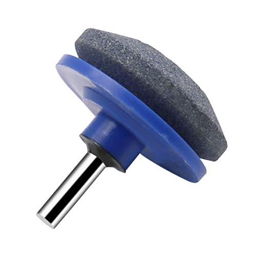 Universal Lawnmower Blade Sharpener Rotary Drill Blade Sharpener Rasenmäher Spitzer Schleifen Gartengeräte für Bohrmaschinen - Grau