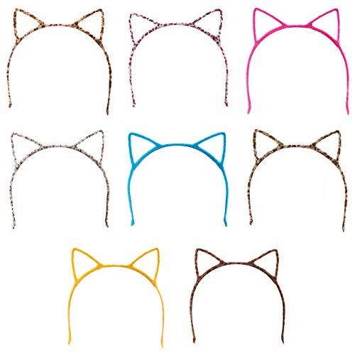 16 Diademas Orejas de Gato para Niños | Cómodo, Talla Única para Todos| Fiesta Disfraces, Cumpleaños Rellenos, Piñata Bolsas