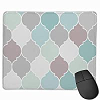 """Seamless Moroccan Pattern Mouse Pad Non-Slip Rubber Gaming Mouse Pad Rectangle Mouse Pads for Computers Desktops Laptop 9.8"""" x 11.8"""""""