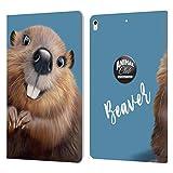 Head Case Designs sous Licence Officielle Animal Club International Castor Visages Coque en Cuir à...