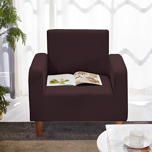 WedDecor Liso Y Estampado Poliéster Spandex Sofá Fundas - Chocolate, Chair