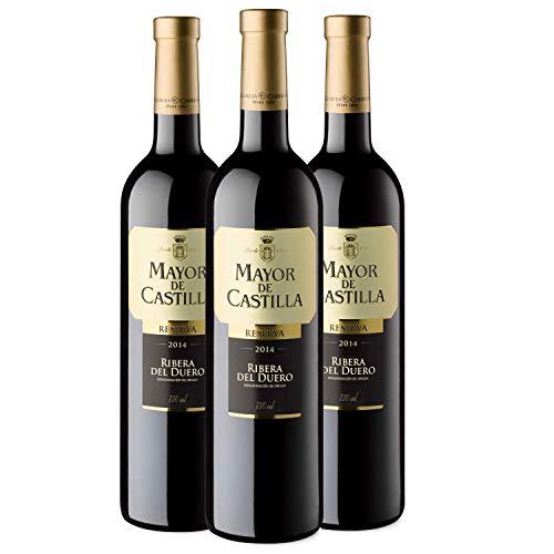Mayor de Castilla Reserva - Vino Tinto D.O Ribera del Duero, Pack de 3 x 750 ml