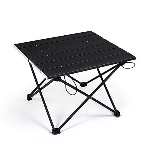Aiong Mesa de Picnic, 1 Unidad portátil, súper Ligera, de aleación de Aluminio, Mesa Plegable, Mini Barbacoa, Escritorio para Acampar