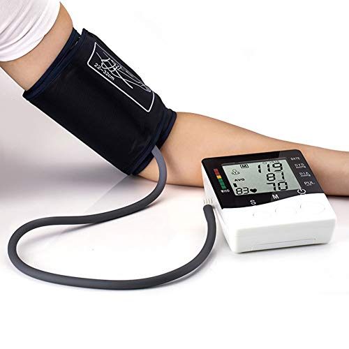AAFF Big Display Upper Arm Cuff Blood Pressure Monitor, Measuring Instruments Accuracy Automatic Electronic Blood Pressure, 120 Groups Memory Two Persons