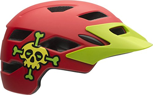 Bell Kinder Helm SIDETRACK Child 16 Fahrradhelm, mat red skully, unisize