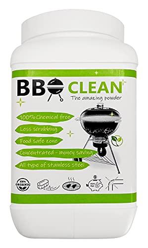 BBQ CLEAN Concentrato in Polvere per Pulizia Facile Griglie e Barbecue, 100% Naturale, The Amazing Powder