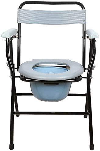 Toilettenstuhl Rad Mobile Wanne Transfer Verstellbar Edelstahl Faltbarer Nachttisch Toilettenstuhl Alter Mann Toilettenstuhl Medizinische Schwangere Frau Kniebeuge Toilette Zuhause Behinderte Person