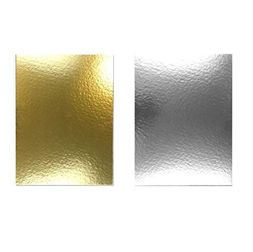 Miss Bakery's House® Cake Board - 3 mm - 30x40 cm - Silber&Gold - 10 Stück - Tortenunterlage