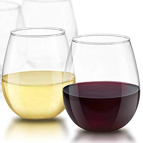 DONGYAO Juego de 2 copas de vino sin tallo de bebidas espirituosas, de 18 onzas, de larga duración y duradero, utilizado para vino blanco o tinto