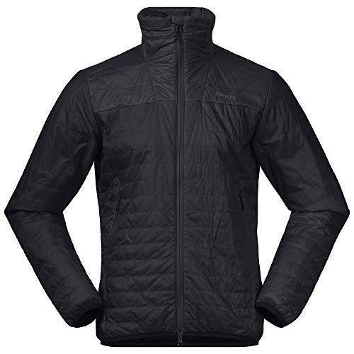 Bergans Herren Røros Light Insulated Jacke, Black-solidcharcoal, XL