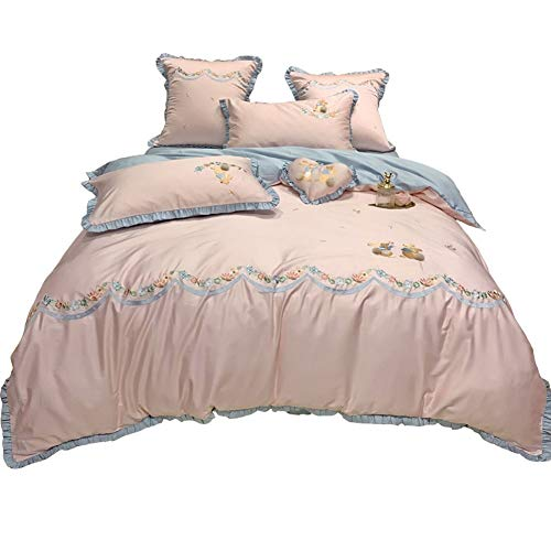 Review Of Bed Sheet Set of Quilt Bedspread Bedding Four-Piece Set Embroidered Plush Cotton Cotton Pr...