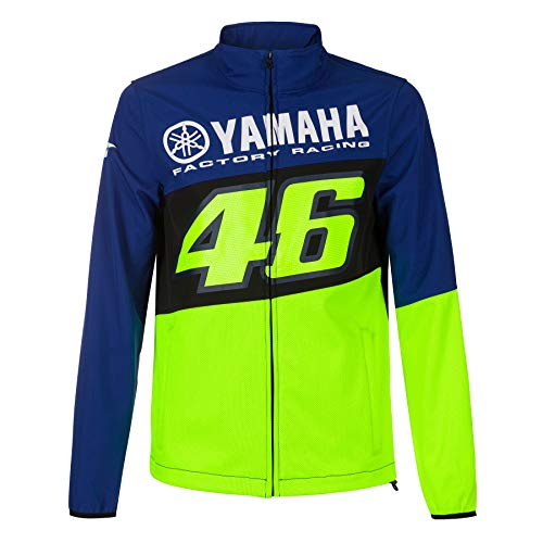 Valentino Rossi - Chaqueta Softshell VR46 MotoGP M1 Yamaha Racing oficial 2020, azul, extra-large