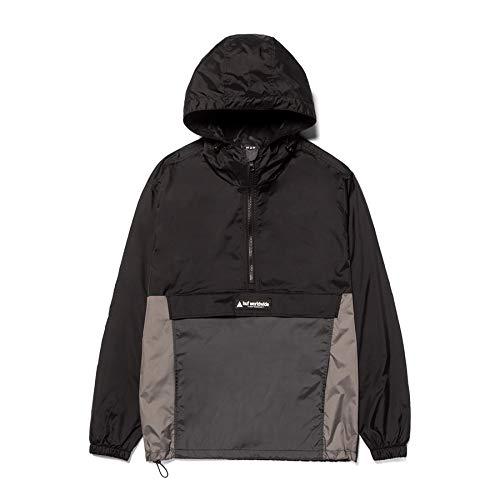 HUF Wave Anorak Jacket Windproof Jacket Medium Black