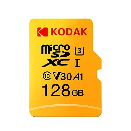 Grborn Tarjeta Kodak Micro SD Tarjeta de 128GB TF Tarjeta de Memoria U3 A1 V30 100 MB/s Velocidad de Lectura 4K Video Record