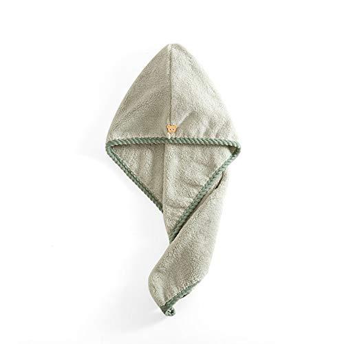 IAMZHL Toallas de Mujer Toalla de Microfibra para baño Toalla de Cabello de Secado rápido Toallas de baño para Adultos Toallas Microfibra Toha de Banho-Bear Green-25x65cm