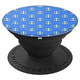 Anker Muster Blau und Weiß - PopSockets Ausziehbarer Sockel und Griff für Smartphones und Tablets