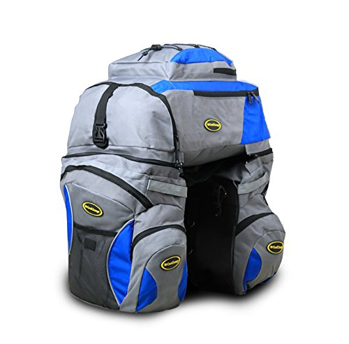 Cool Change Bicycle Bags for Rear Rack Bike Pannier Bag and Backpack 2 in 1 Hight Capacity 65 Liters...