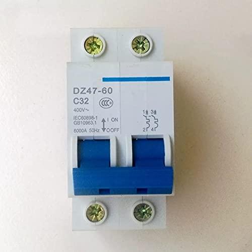LUOXUEFEI Disyuntor Diferencial Interruptor C32 Ac230 400V 2P 32ADisyuntor DeCorriente Nominal De2 Polos