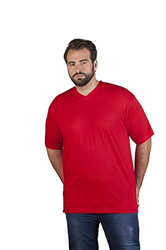 Promodoro Premium V-Neck-T-Shirt 100% gekämmte Baumwolle, 180 g/m 5XL Rot