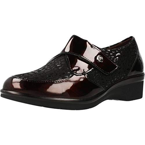 Pitillos - Zapato Confort Velcro y Licra Marrón - Marrón, 40
