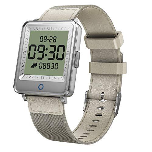 LQIAN 1,3-Zoll-Fitness-Armband mit Pulsmesser, Fitness Tracker Blutdruckmessgerät Schrittzähler Uhr wasserdicht IP67 Herzmonitor Aktivität Tracker Herzfrequenz Stoppuhr Schlaf Lange Standby
