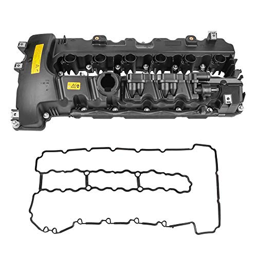 MOSTPLUS 11127565284 Engine Valve Cover Compatible with BMW 535i 135i 335i X6 Z4 N54 Turbo Valve Cover