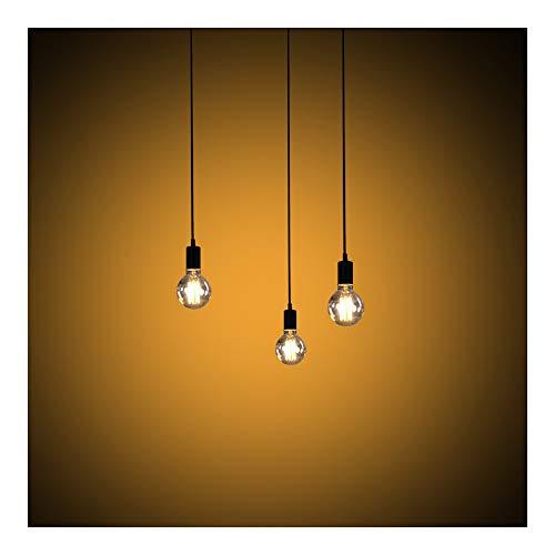 Lustre Retro con G80bombillas, lámpara y suspensión Luminaires de techo E27vaso con...