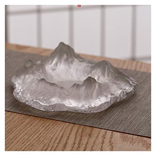 Cenicero Cenicero con forma de cenicero en forma de nieve de nieve creativa Cenicero de cristal del hogar Cenicero de cristal de la casa adecuado para barra de bar interior y al aire libre Cenicero co