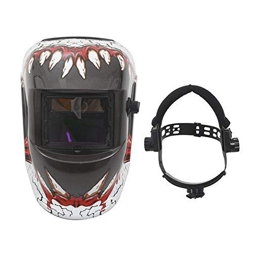 NZQLJT Pantalla soldar automatica, Máscara Ajustable Gorra de Soldadura eléctrica ennegrecido automáticamente Profesional Negro Careta de soldar (Color : A-1)
