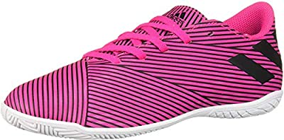 adidas Unisex-Kid's Nemeziz 19.4 Indoor Soccer Shoe, Shock Pink/Black/Shock Pink, 12.5K M US Little Kid