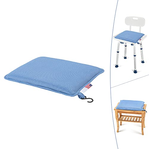 GreenChief Cushion for Shower Chair, Bath Seat Cushion Soft Seat Pads Mat Fit Transfer Bench, Shower Stool, Padded Bath Stools for Elderly, Senior, Handicap & Disabled