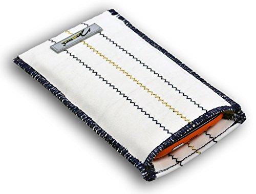 norrun Wanda Handytasche aus Segeltuch maßgeschneidert mit Mikrofasereinlage, Strahlenschutz ersetzt die Tasche von Hersteller/Modell Samsung Galaxy S7 Edge Olympic Games Edition