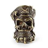 YEVYG Cuentas de Cuchillo Cuervo DIY Cuchillo Beads Colgante Color Vintage Latón Herramientas al Aire Libre Blanco Brass Skull Paracord Beads Colgante Decorativo (Color : Pirate Yellow)